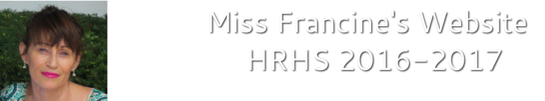 Miss Francine's Website 2018-2019